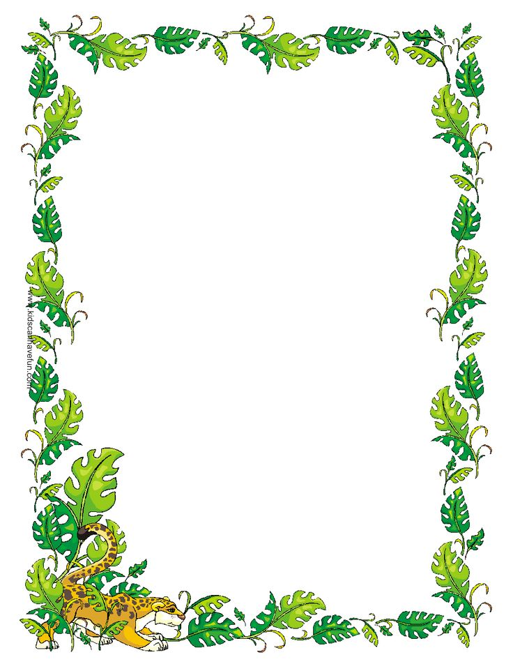 Jungle clipart borders. Free cliparts frames download