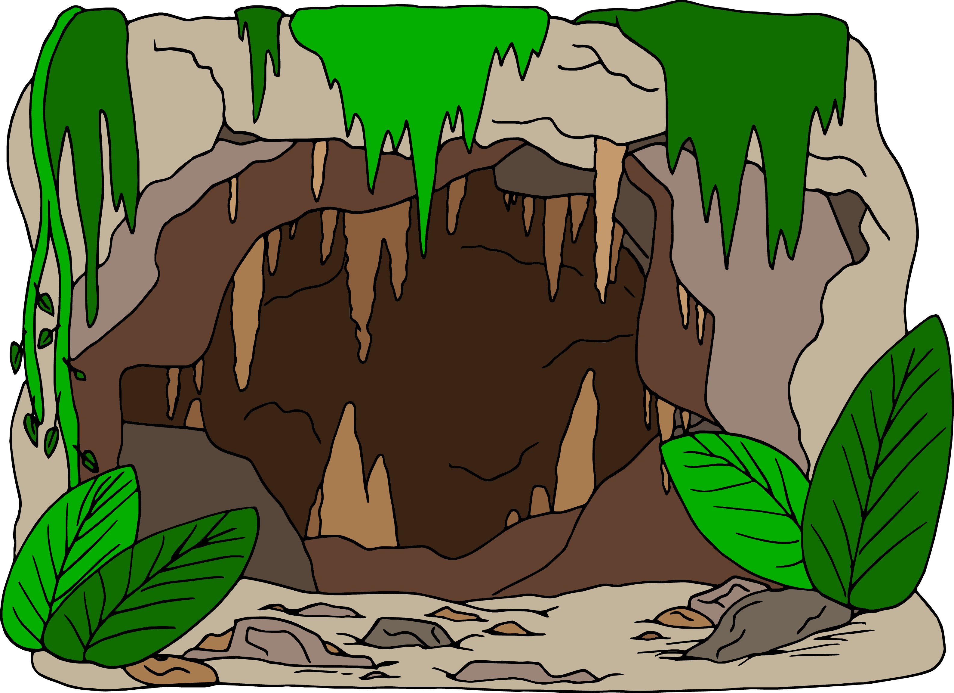 Surviving the vbs children. Jungle clipart cave in