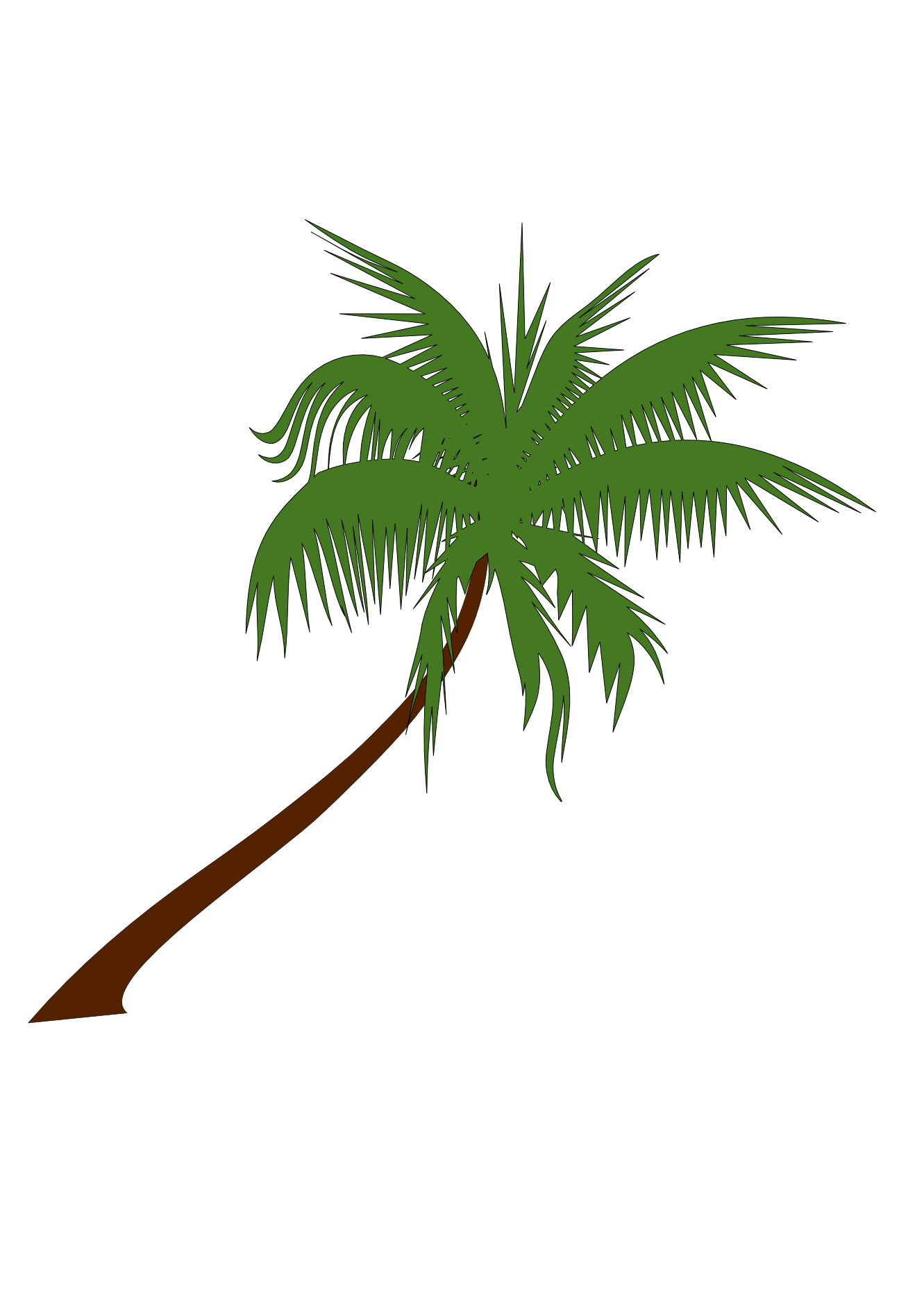 Tree clip art png. Palm clipart single