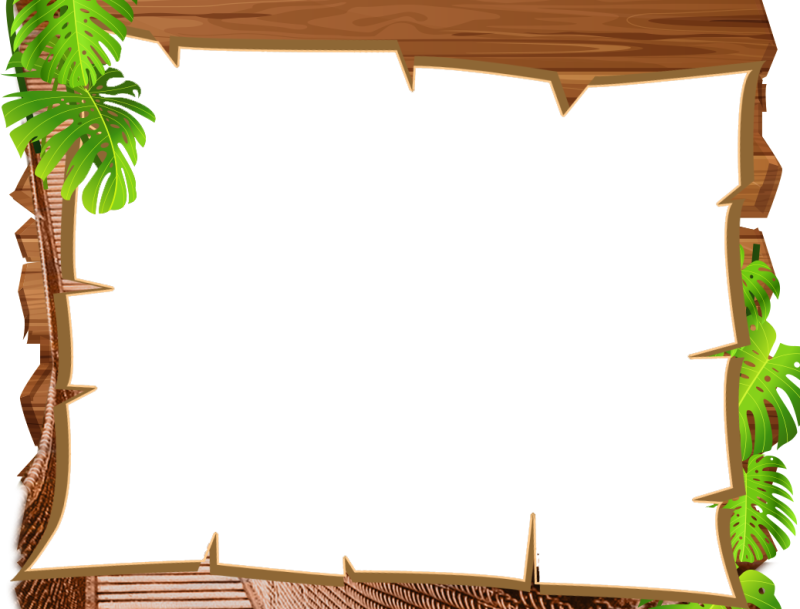 Border ourclipart pin . Jungle clipart frame