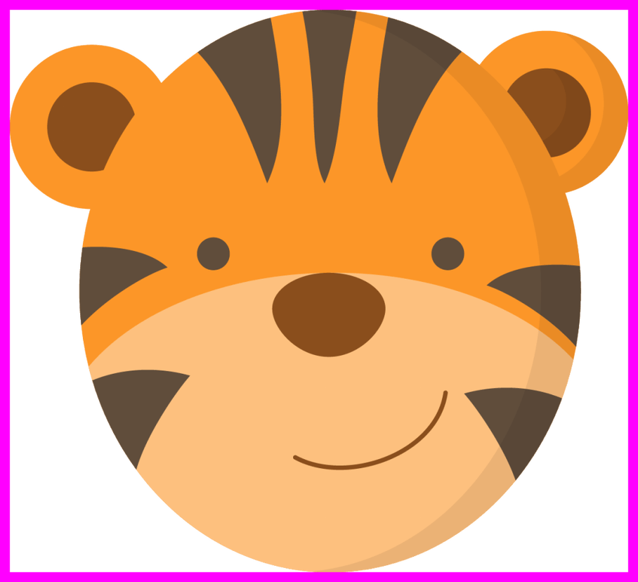 Lions clipart baby shower. Shocking jungle animals faces