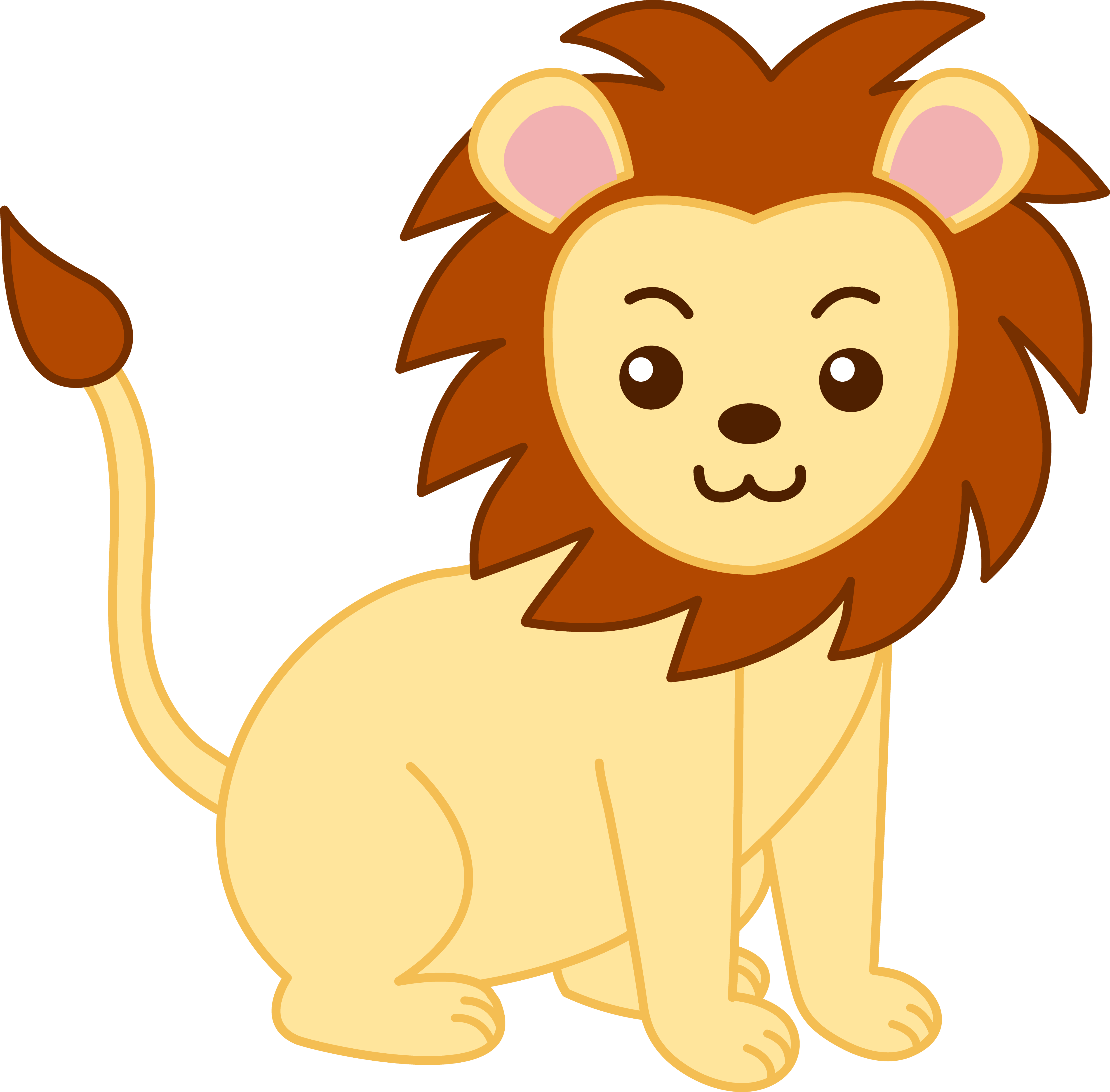 Baby jungle animals at. Monkey clipart lion