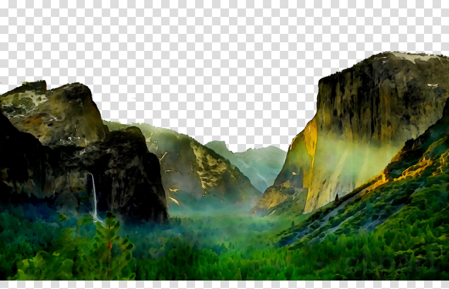 Background nature water . Jungle clipart mountain