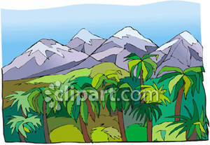 Mountains beyond a royalty. Jungle clipart mountain