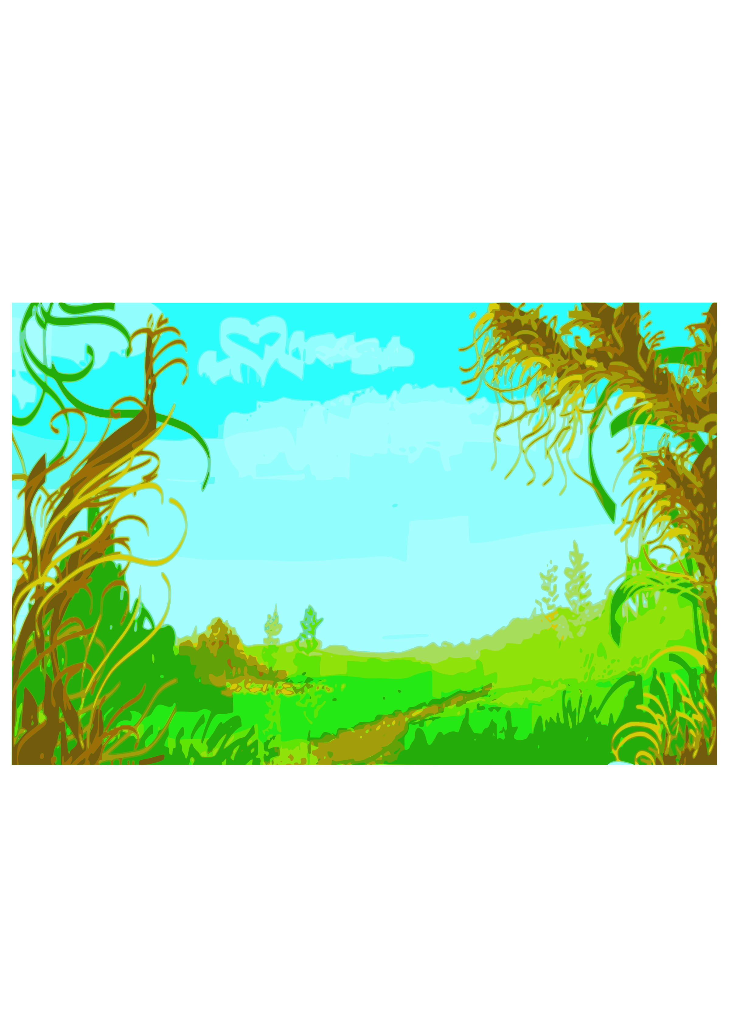 Jungle clipart nature frame. Composition color big image