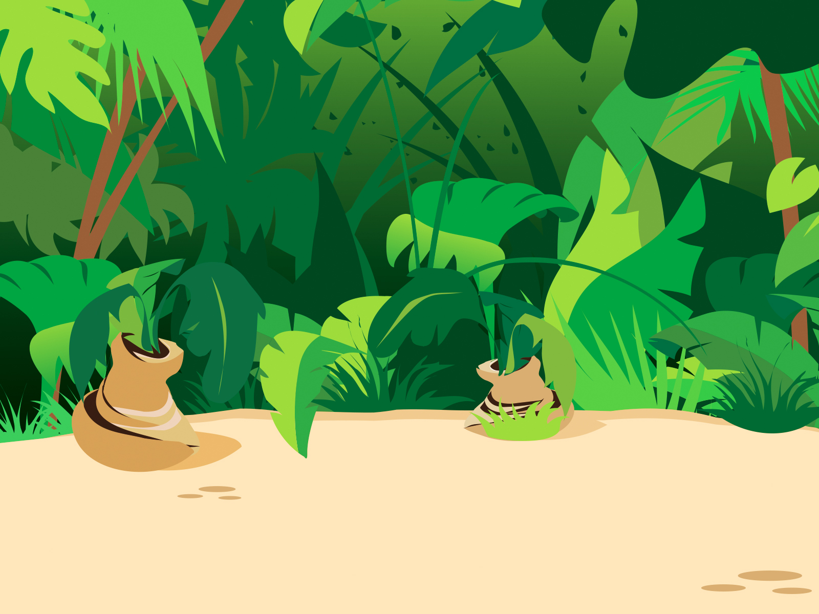 Jungle clipart powerpoint. Plants backgrounds green nature