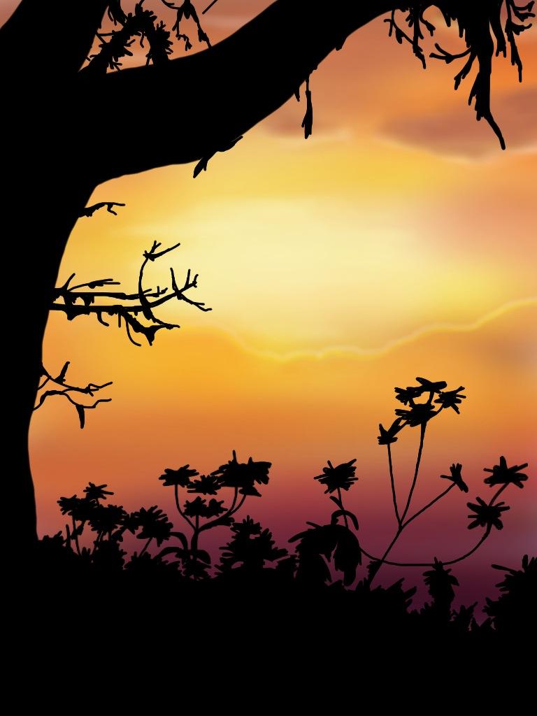 Sunset clipart jungle. By icjaker on deviantart
