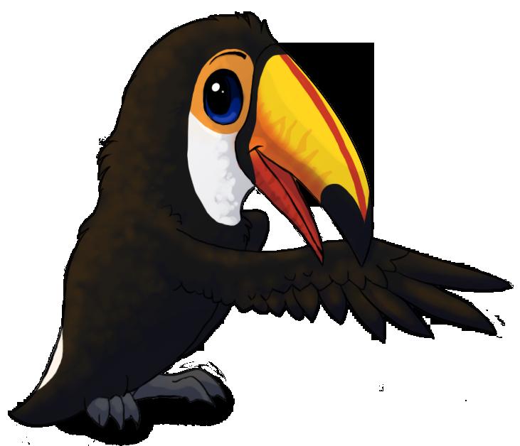Rainforest clipart rainforest toucan. Toco by starrypoke d