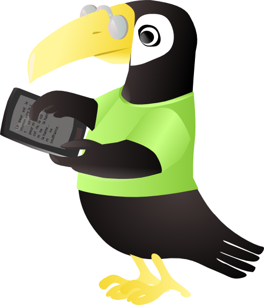With tablet clip art. Toucan clipart vector