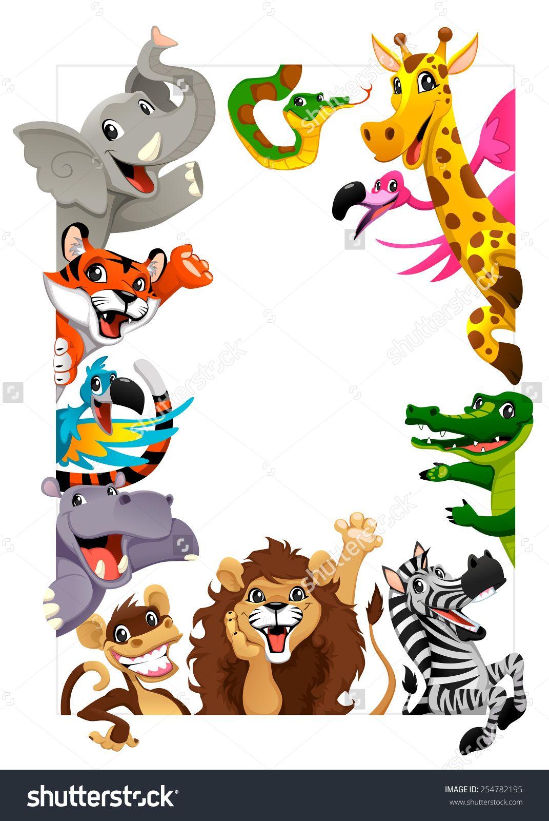 Jungle clipart vector art. Animals stock vectors clip