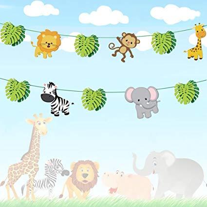 pcs animals leaves. Jungle clipart woodland scene