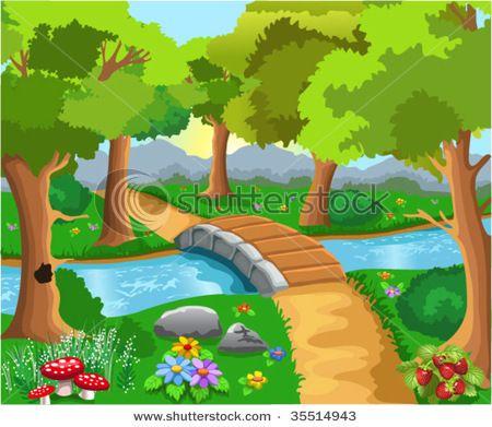 Cartoon images forest cartoons. Jungle clipart woodland scene