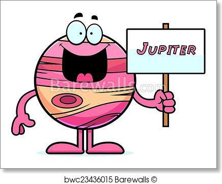 Jupiter clipart. Art print of cartoon