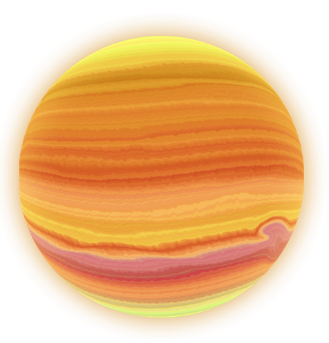 Jupiter planet kid clipartix. Planets clipart glowing
