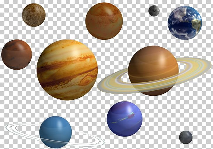 The nine solar system. Planets clipart 9 planet