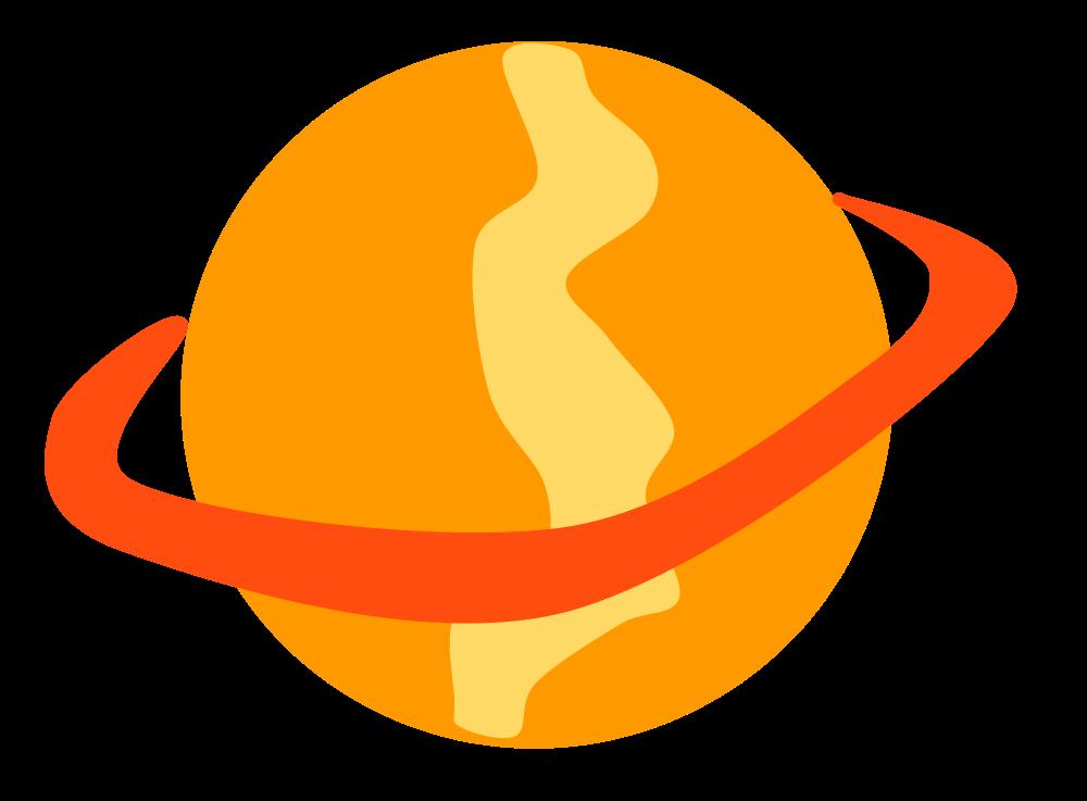 Planet clipart orange planet. Onlinelabels clip art