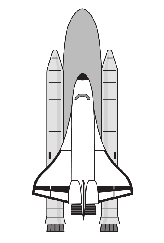Spaceship clipart aerospace engineering. Jupiter black and white