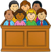 The bill of rights. Jury clipart