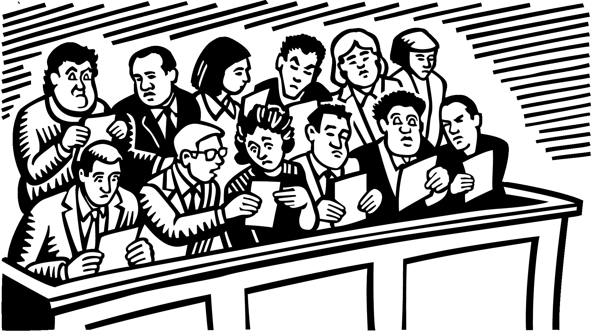 Jury clipart. What the cares most