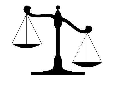 Legal scales of . Justice clipart