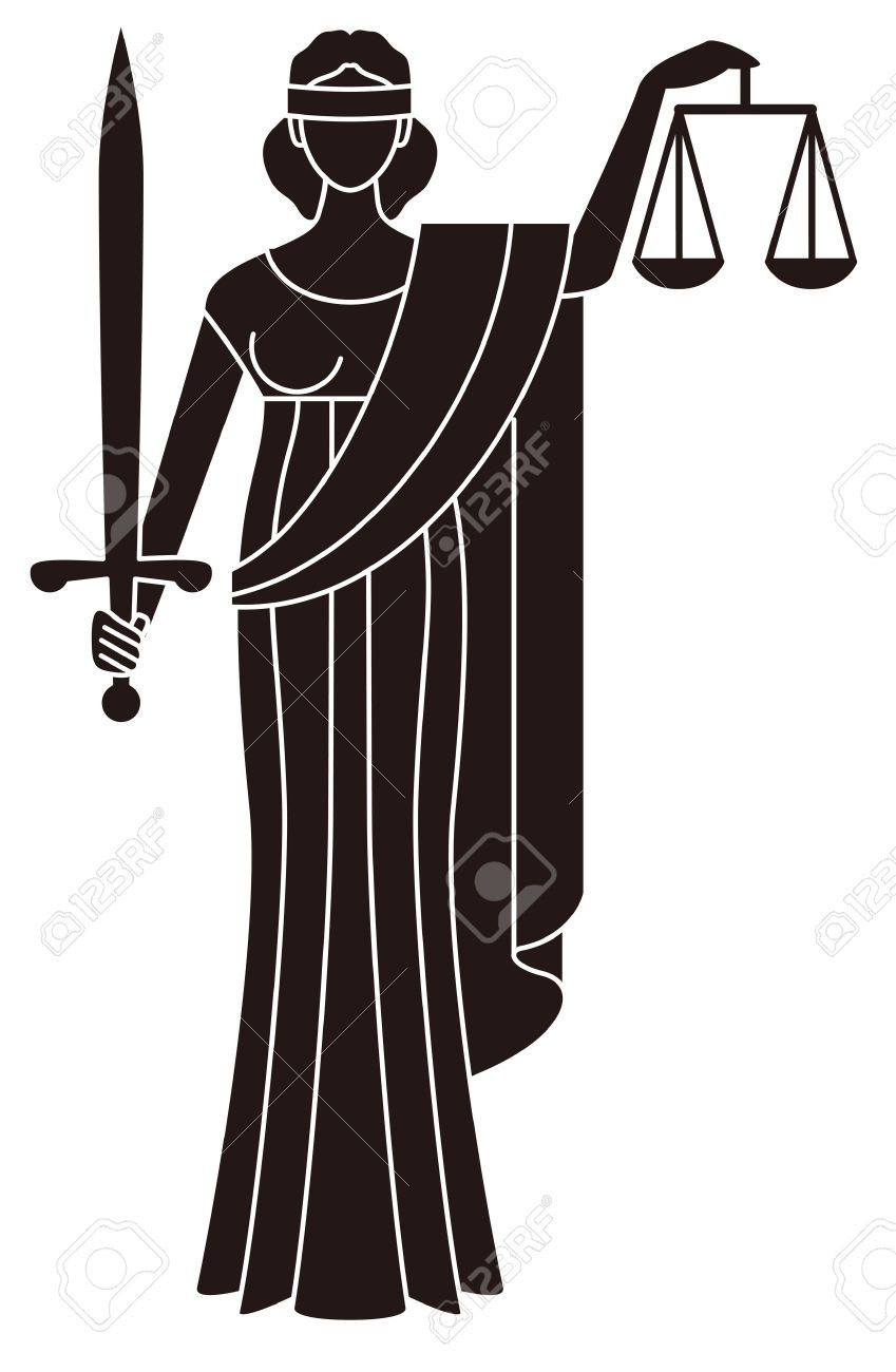 Justice clipart. Symbol of goddess themis