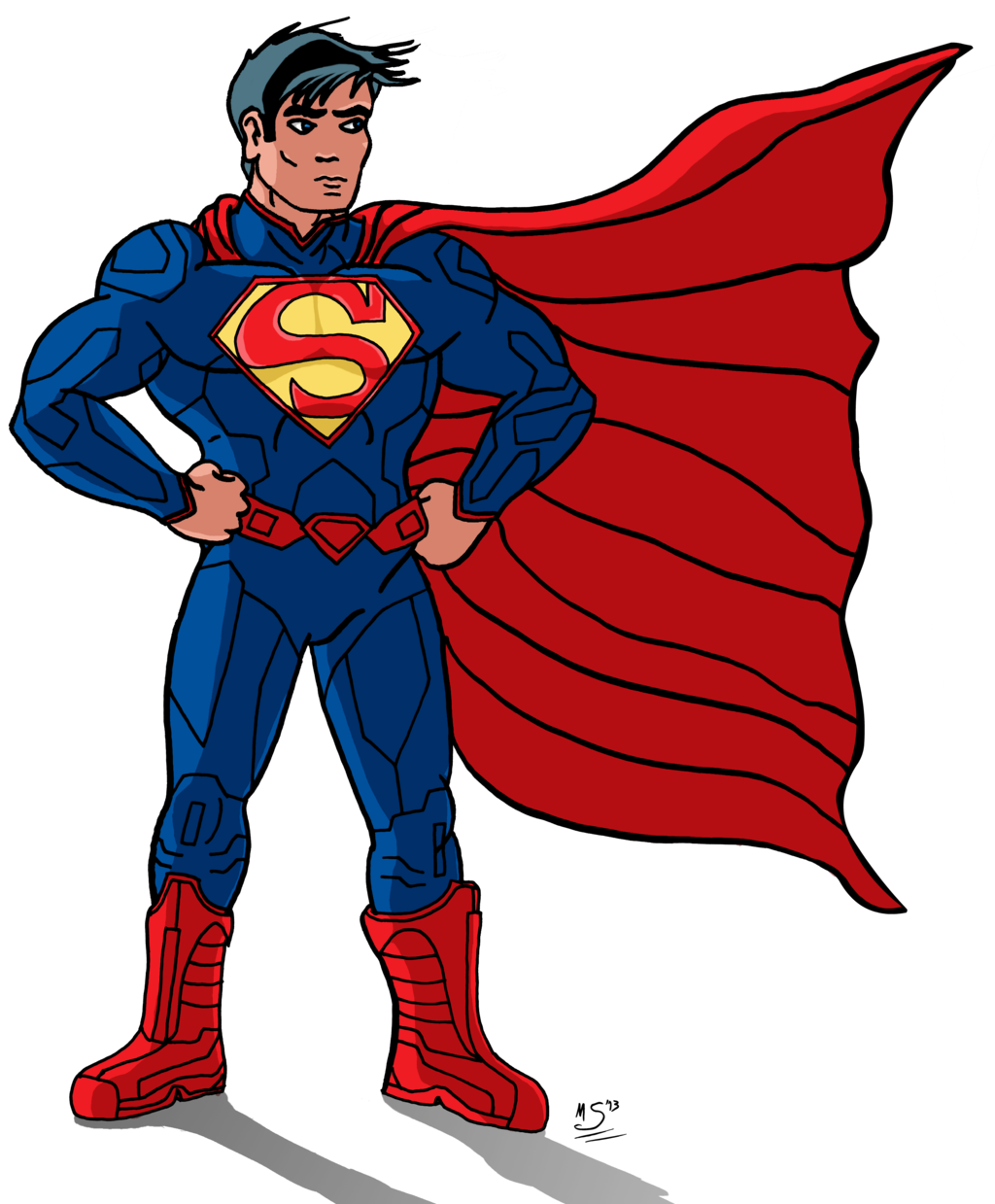 superman clip art. Justice clipart animated