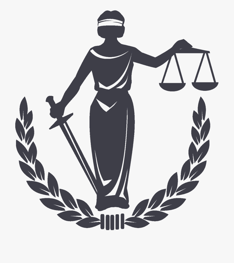 Lawyer business symbol in. Justice clipart bill law