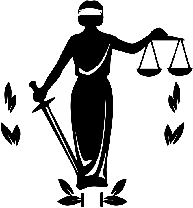 Justice clipart black and white. Clip art judge silhouette