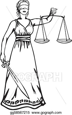 Vector art themis a. Justice clipart justice statue