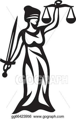Justice clipart justice statue. Eps illustration vector gg