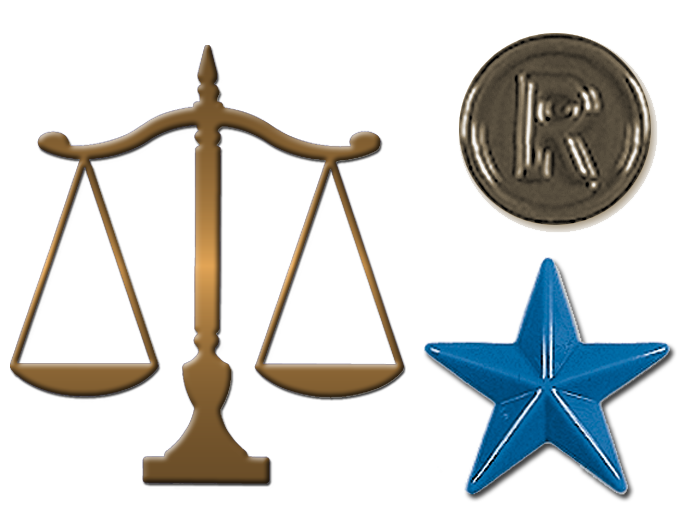 Justice clipart justified. Formed plastic legal symbols