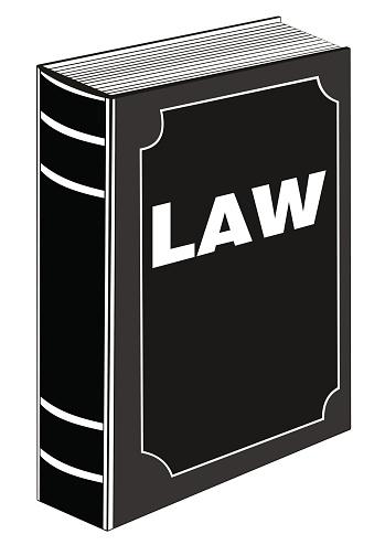 And icon black colour. Justice clipart law book