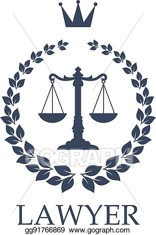 Justice clipart law office. Vector art scales of