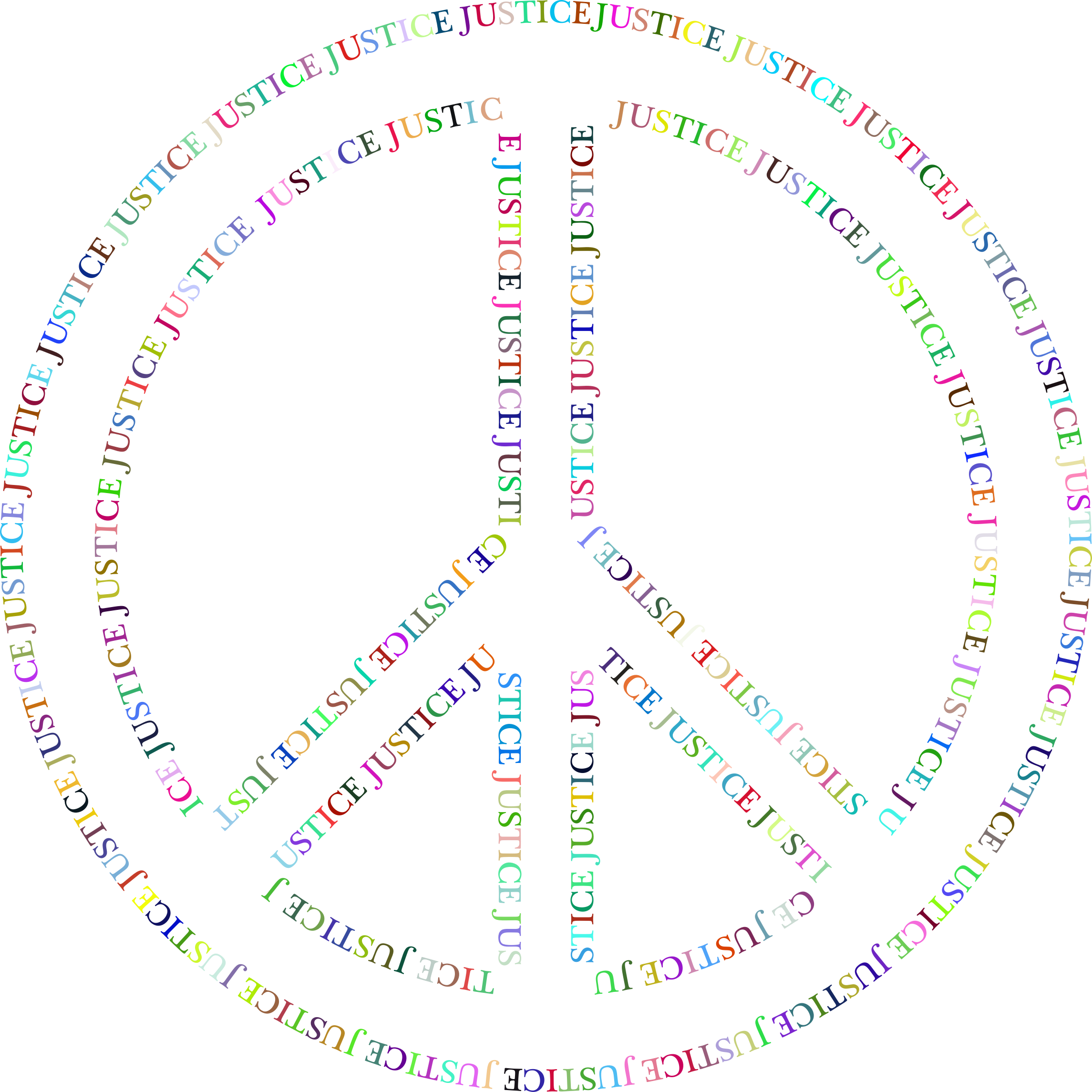 Prismatic symbol no background. Justice clipart peace