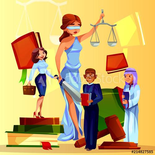 Court and legislation vector. Justice clipart prosecutor