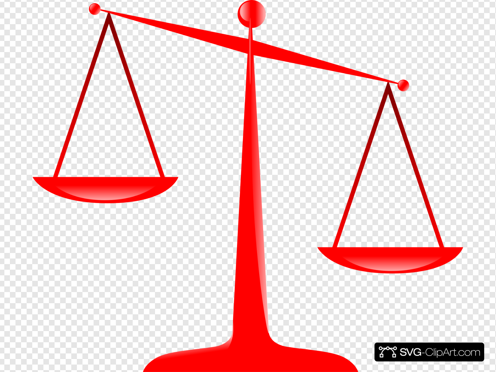 Scales of red clip. Justice clipart svg