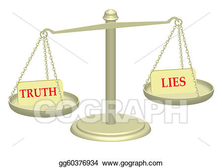 Stock illustration and lies. Justice clipart truth