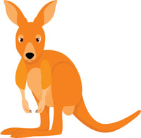 Kangaroo clipart. Free clip art pictures