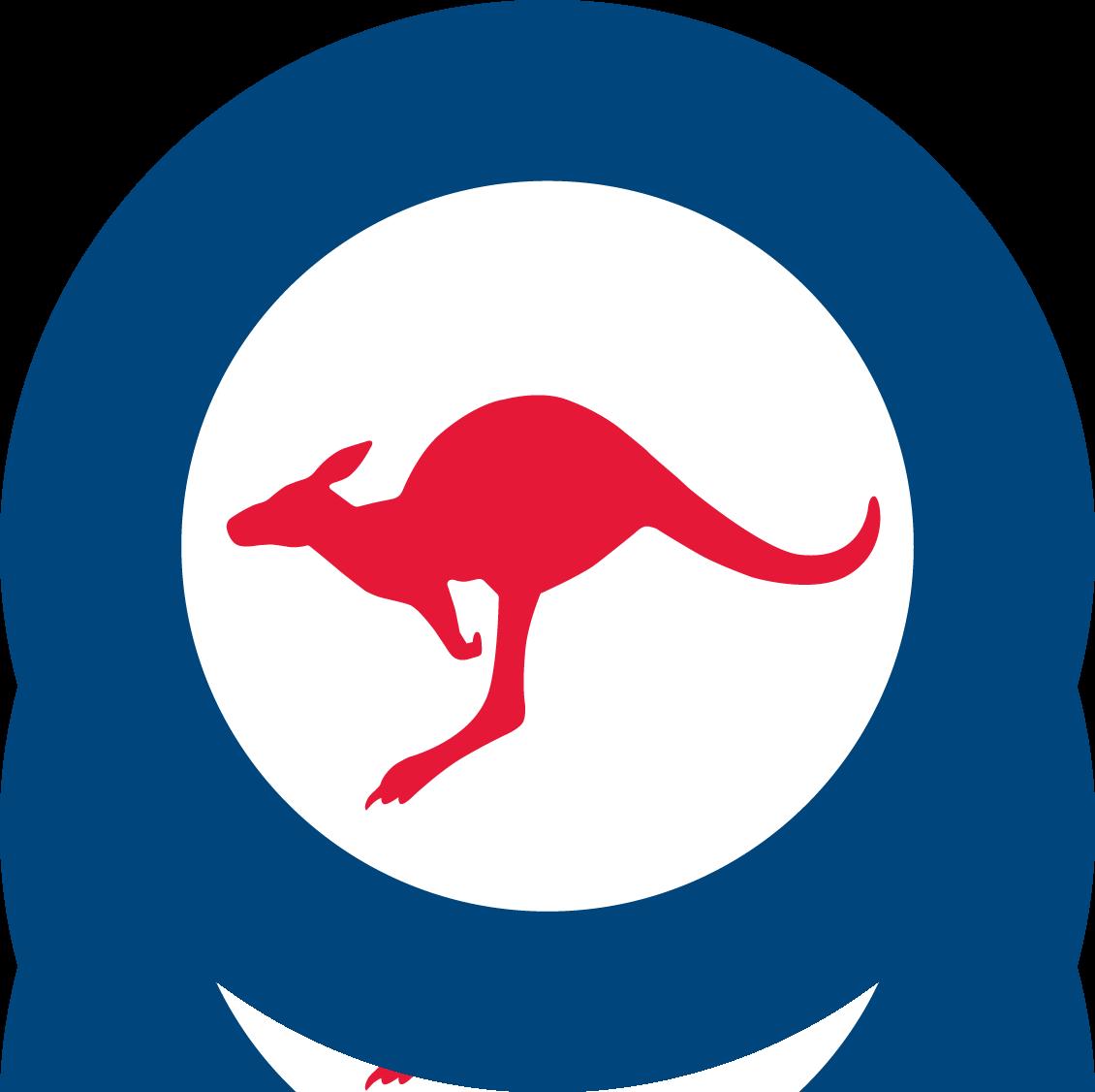 Kangaroo clipart aboriginal kangaroo. Raaf aus airforce on