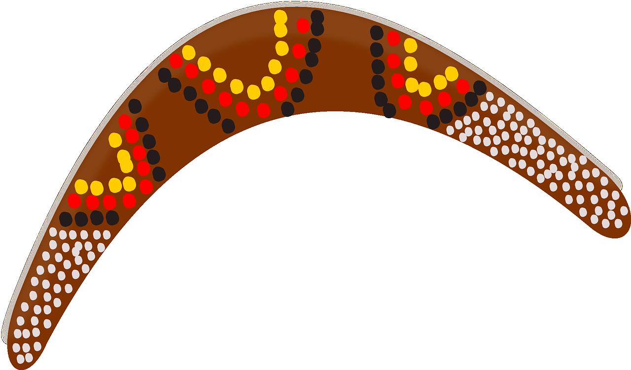 Australia boomerang wood toy. Kangaroo clipart aboriginal kangaroo