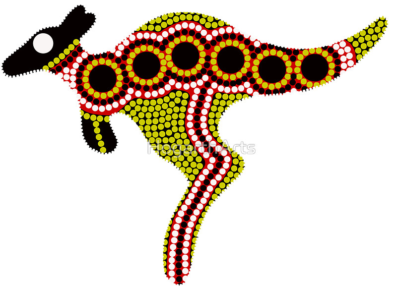 . Kangaroo clipart aboriginal kangaroo