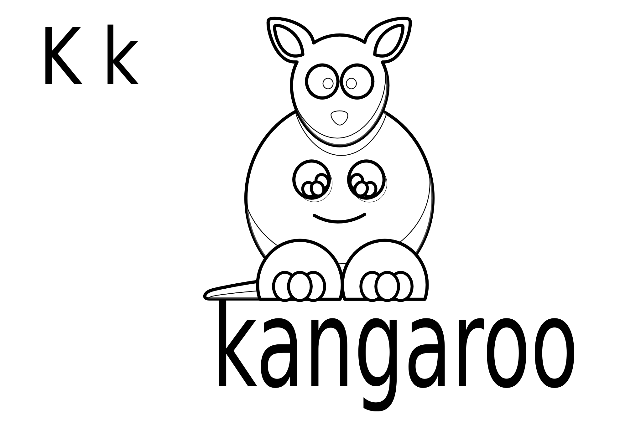 Kangaroo clipart black and white. Clipartist net clip art