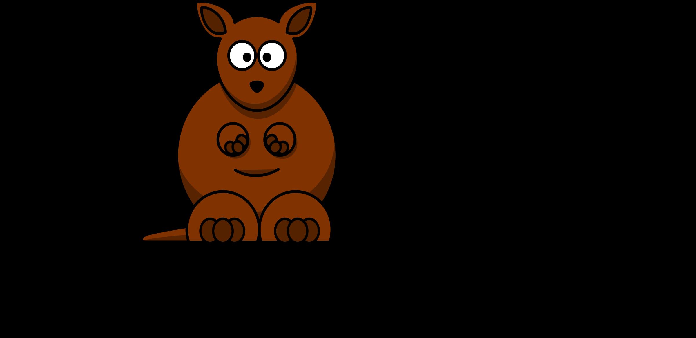 K for big image. Kangaroo clipart cartoon