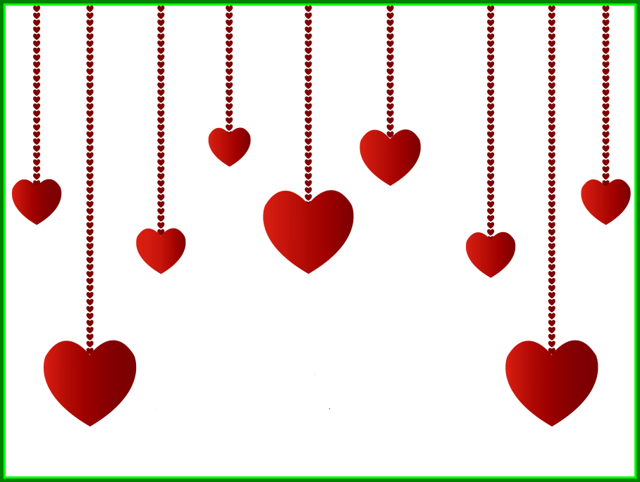 Awesome hanging hearts decoration. Kangaroo clipart clothes