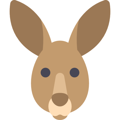Kangaroo clipart head.