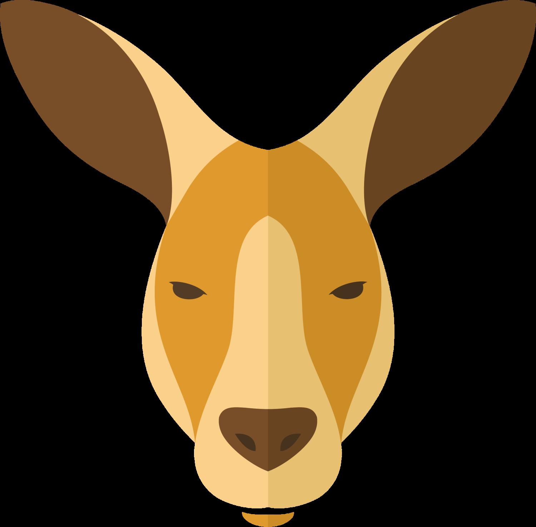 Kangaroo clipart head. Macropodidae dog cartoon giraffe