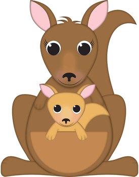 Kangaroo clipart kangaroo joey. Clip art and