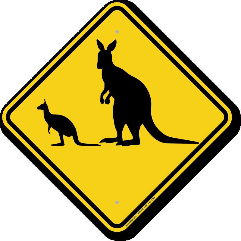 And crossing sign k. Kangaroo clipart kangaroo joey