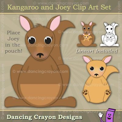 Clip art and joey. Kangaroo clipart kangaroo pouch
