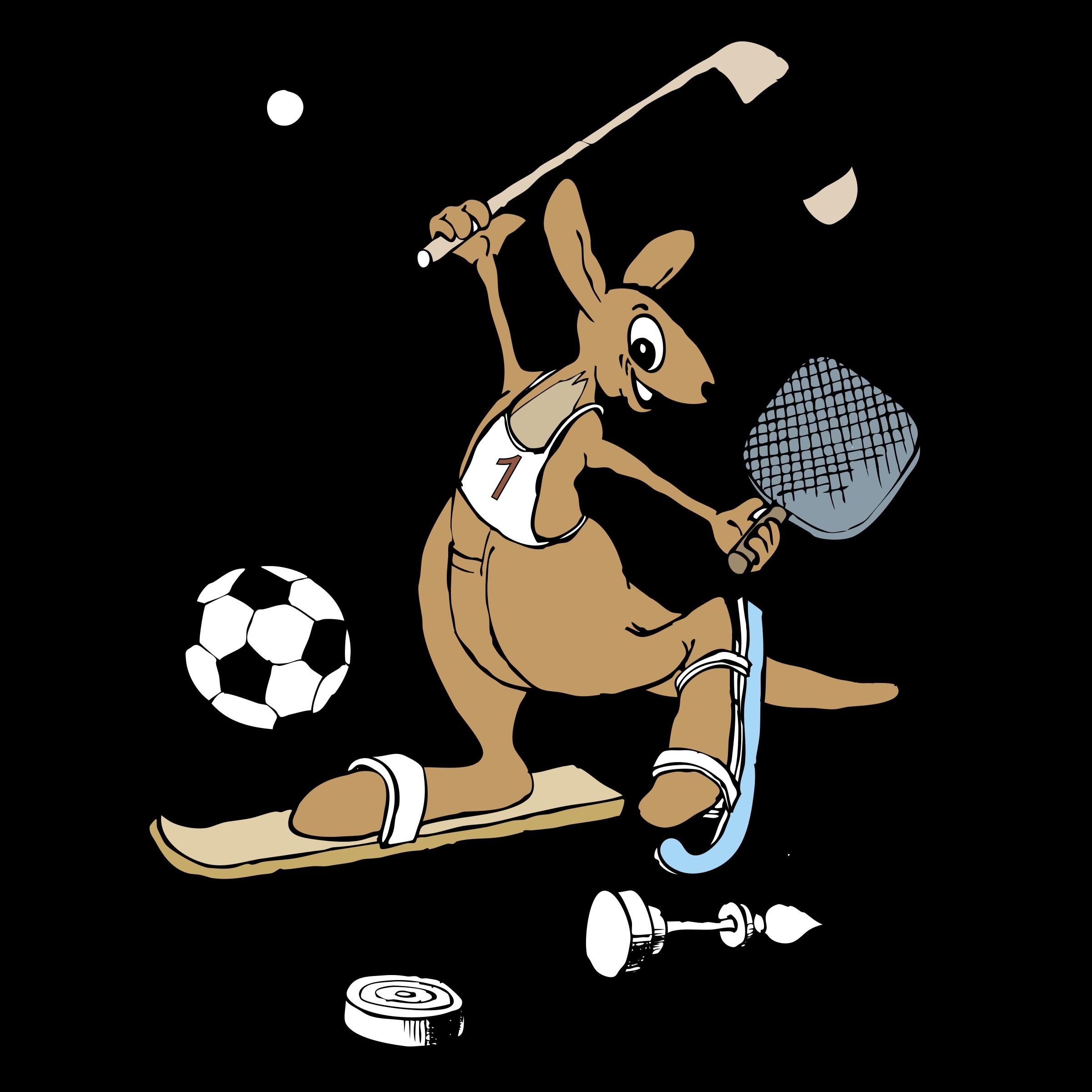 Kangaroo clipart kick. Logo png transparent svg